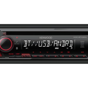 KENWOOD KDC-BT430U RADIO CD/USB/BLUETOOTH, ROSU